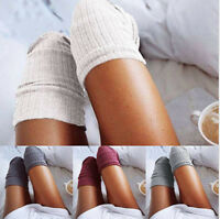Fashion Women Soft Winter Cable Knit Over knee Long Boot Warm Thigh High Socks