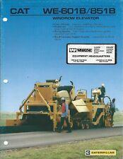 Equipment Brochure - Caterpillar - WE-601B 851B Windrow Elevator - c1987 (E4459)