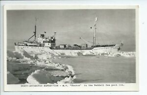 2nd Real photo postcard of the 1955-58 Trans Antarctic expedition gc explorers