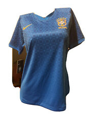 Nwt $90 Nike Brazil 2019/20 Stadium Away Soccer Jersey Womens Medium Aj4389-453