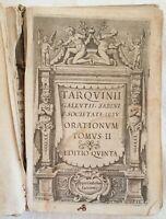 TARQUINIO GALLUZZI ORATIONUM TOMUS II MONTEBUONO RIETI SABINA LAZIO 1633