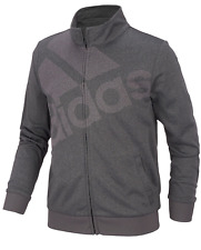 adidas Big Girls Heathered Tricot Logo Track Jacket Size: M(10/12)