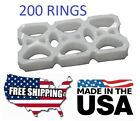 NEW USA 200 Pack Six Pack Ringers for 12 oz Can Beer Soda Liquor Plastic 6 rings