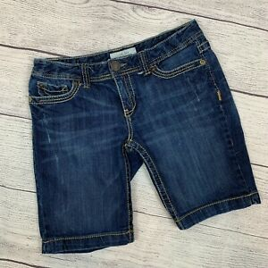 "Aeropostale 9/10 Jean Shorts Bermuda Dark Wash Approx. 28 Inseam 9"""