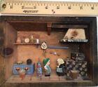 vintage 3 D folk art diorama picture box, kitchen scene