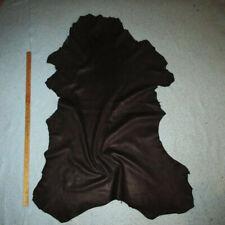 Big Raspberry Tinged Black Goatskin W/Red Sheen Leather Hide Soft Goat Skin