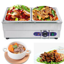 More details for 1500w 2 pots electric commercial bain marie catering food warmer tangchi soup