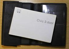 HONDA CIVIC 3 DOOR OWNERS MANUAL HANDBOOK 2000-2005 PACK 6990