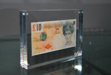 BANKSY DI FACED TENNERS £10 TEN POUND NOTE PRINCESS DIANA ACRYLIC BLOCK FRAME