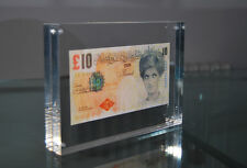 BLOCK FRAMED BANKSY DI FACED TENNERS £10 REPLICA TEN POUND NOTE PRINCESS DIANA
