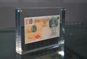 BLOCK FRAMED BANKSY DI FACED TENNERS £10 REPLICA TEN POUND NOTE PRINCESS DIANA