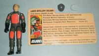 1983 GI Joe Grand Slam v1.5 Swivel Arm Figure w/ File Card Clear Visor *Complete