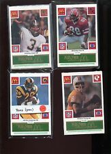 1986 McDonalds FB 28 GREEN TAB set of 29 teams 1 BLUE 49er's and Hershel Walker