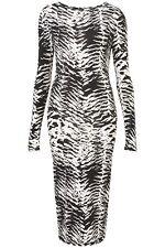 Disfraz De Esqueleto Largo Bodycon Topshop Vestido Talla 6 Halloween Negro Y Blanco