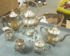 8 Piece Sterling Silverplate Tea Coffee Pot Set