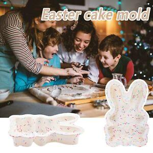 Easter Silicone DIY Chocolate Mold Rabbit Shape Baking Cake Sponge Bake CH