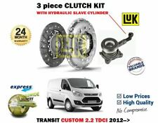 FOR FORD TRANSIT CUSTOM 2.2 TDCI 2012--> CLUTCH KIT WITH HYDRAULIC CSC CYLINDER