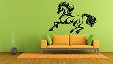 Wall Vinyl Sticker Room Decals Mural Design Horse Animal Running bo1218