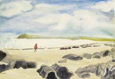 "Irish Painting CLONEA Dungarvan Waterford Ireland Watercolor 9.5"" x 14"" Sullivan"