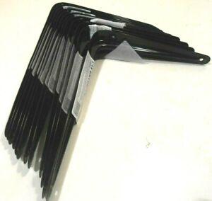 """SHELF BRACKETS 6"""" INCH x 8"""" INCH  SHELF BRACKETS TWELVE 12 PC. BLACK  METAL"""