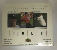 2001 Upper Deck Golf Factory Sealed Hobby Box Tiger Woods