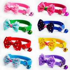 8PCS Lot Bundle Dog Collar Cute Bow tie for Small Puppy Cat  Adjustable Buckle