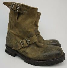 John Varvatos Cooper Buckle Hand Made In Portugal Twinie Brown Mens Boots Size 7