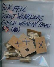 Citadel Warhammer 40K Epic Plastic Squat Warriors Guild Weapons Teams x10 GW