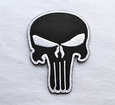 Skull, The Punisher, parche, Patch, aufbügler, badge, Iron On, badge, Black