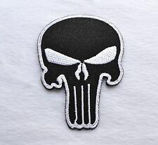 SKULL, The Punisher, patch, ricamate, aufbügler, badge, Iron on, badge, Black