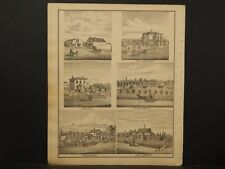 Ohio Portage County Map 1874 Engravings Flour&Feed Store 1st National Bank J1#21