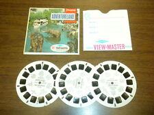 DISNEYLAND - ADVENTURELAND (A177) Viewmaster 3 reels PACKET SET vintage