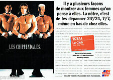 PUBLICITE ADVERTISING 016  1996  TOTAL   la carte Club  (2p) Les chippendales