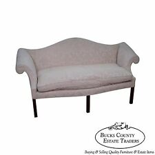Genial Bench Made Solid Mahogany Chippendale Style Camel Back Sofa
