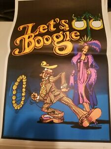 New vintage collectable 1972 Let's Boogie Black Light Poster
