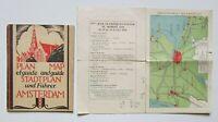 1928 Amsterdam Olympics Stadium Plan & City Guide and Winter Olympic Program Map