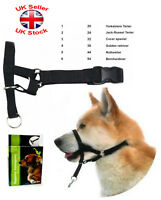Head Collar Stops Dogs Pulling Training Nose Reigns Muzzle Loop Black