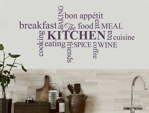 Kitchen words wall sticker | Kitchen wall decor