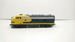Athearn HO Train Custom LED Santa Fe EMD F7A Super Powered Diesel Locomotive