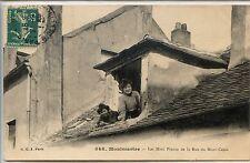 CP 75 Paris - Montmartre - Les Mimi Pinson de la Rue du Mont-Cenis