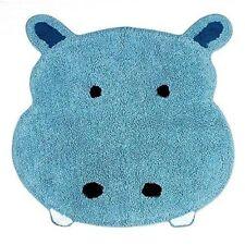 Saturday Knight Safari Blue Hippo Bath Rug for Children's Bathroom NEW