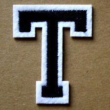 Letter T Alphabet  Iron Sew On Patch Applique Badge Motif