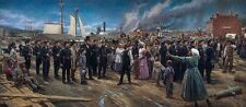 Nathan Greene A NEW BIRTH OF FREEDOM 20x47 S/N CNVS Giclee African American Art
