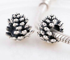 PINECONE PINE CONE .925 Sterling Silver European Charm bead