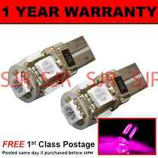 W5W T10 501 CANBUS ERROR FREE PINK 5 LED SIDELIGHT SIDE LIGHT BULBS X2 SL101306