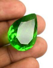 40.25 Carat IGL Certified Pear Cut Green Tektite Moldavite Loose Gemstone B423