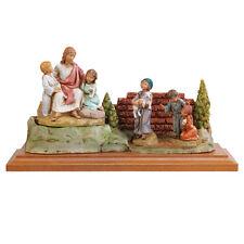 arte religiosa FONTANINI scena vita di cristo - cristo con i bambini presepe