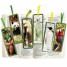 SAFARI ANIMAL JUNGLE WILDLIFE BOOKMARKS HUGE ASSORTED LOT OF 48PC NEW