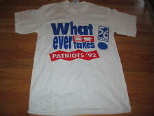 """1992 TV 56 NEW ENGLAND PATRIOTS """"What ever it takes"""" (MED) T-Shirt"""