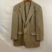 Austin Reed Beige Mens Long Sleeve Houndstooth 2 Button Sport Coat Blazer Sz 44R
